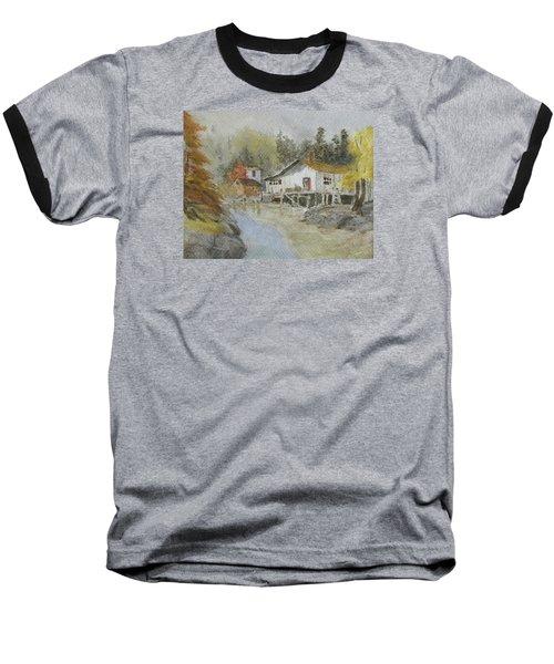 Bass Harbor Retreat Baseball T-Shirt