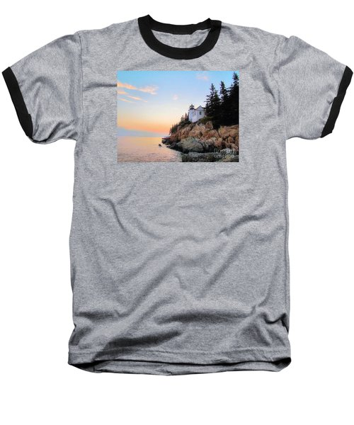 Bass Harbor Sunset II Baseball T-Shirt by Elizabeth Dow