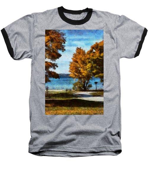 Bass Lake October Baseball T-Shirt