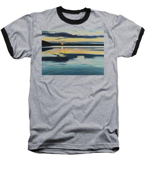 Bass Lake Sunset Baseball T-Shirt
