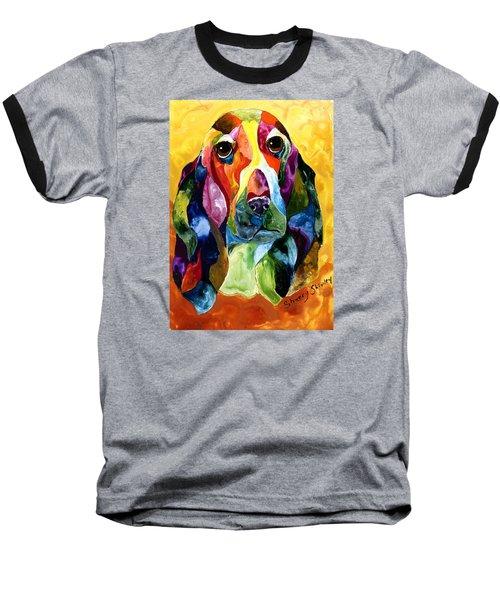 Basset Hound Blues Baseball T-Shirt