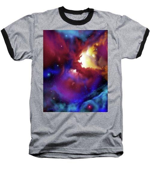 Bat Nebula Baseball T-Shirt