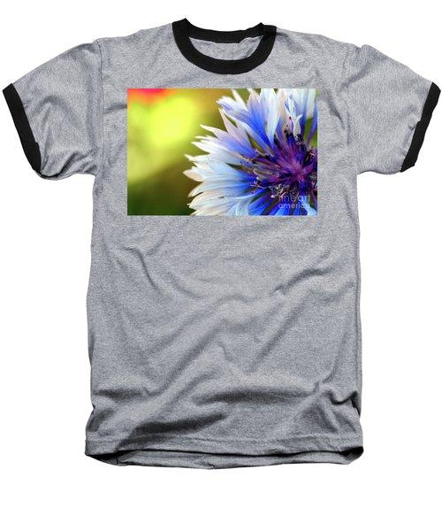 Batchelors Blue And White Button Baseball T-Shirt