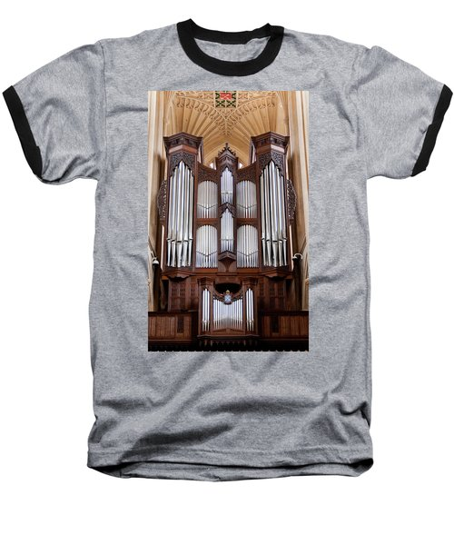 Bath Abbey Organ Baseball T-Shirt