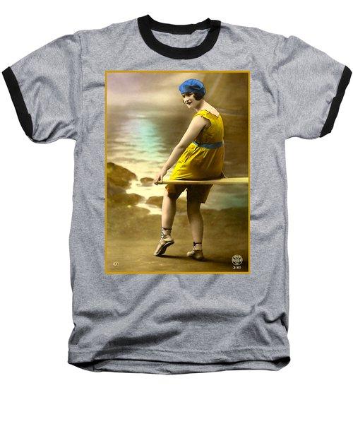 Bathing Beauty In Yellow  Bathing Suit Baseball T-Shirt
