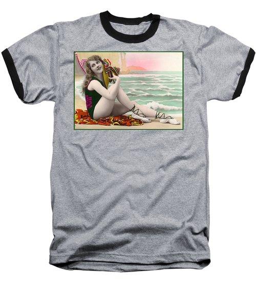 Bathing Beauty On The Shore Bathing Suit Baseball T-Shirt