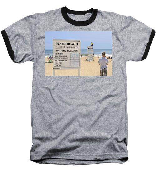 Bathing Bulletin Baseball T-Shirt
