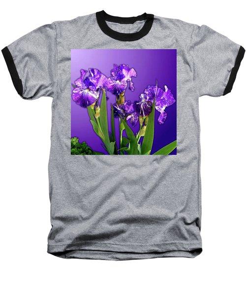 Batik Irises Baseball T-Shirt