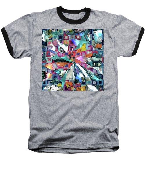 Batik Overlay Baseball T-Shirt