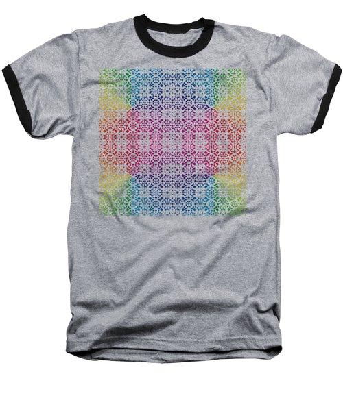 Batik Rainbow 100 - Black Baseball T-Shirt