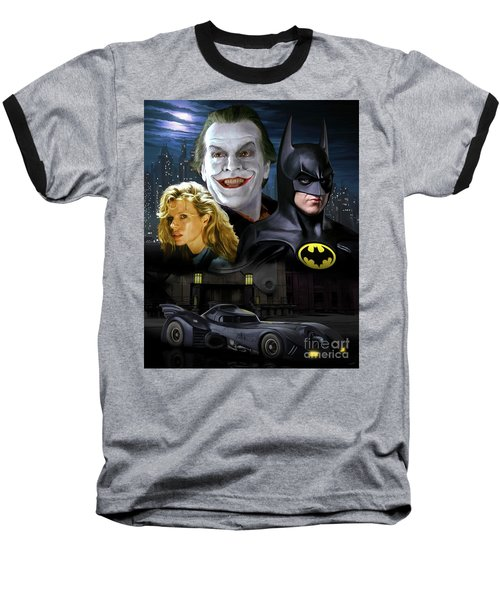 Batman 1989 Baseball T-Shirt