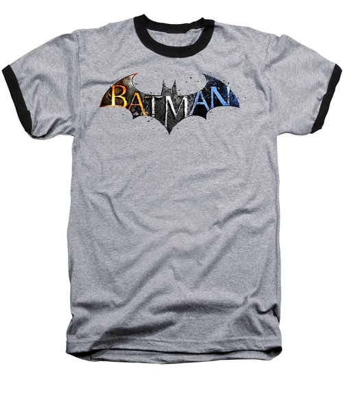 Batman  Baseball T-Shirt by Herb Strobino