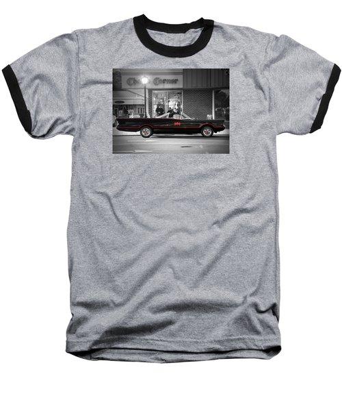 Batmobile Baseball T-Shirt by Nina Bradica