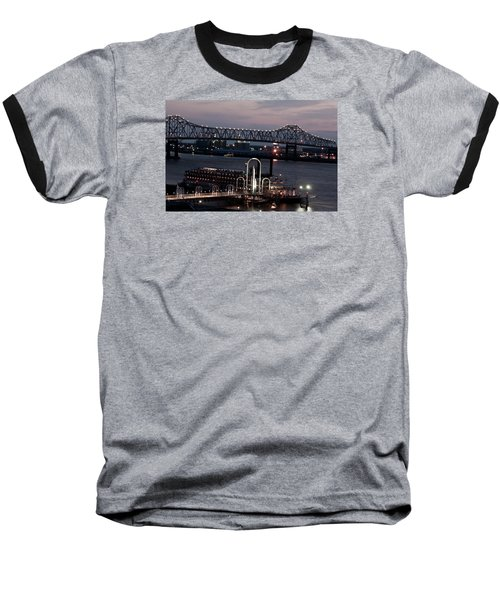 Baseball T-Shirt featuring the photograph Baton Rouge Bridge by Helen Haw