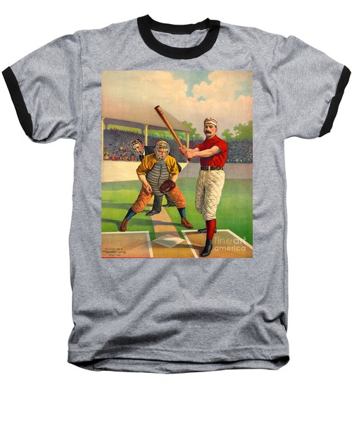 Batter Up 1895 Baseball T-Shirt by Padre Art
