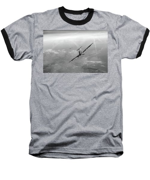 Baseball T-Shirt featuring the photograph Battle Of Britain Spitfires Over Kent by Gary Eason