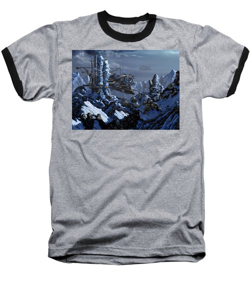 Baseball T-Shirt featuring the digital art Battle Of Eagle's Peak by Curtiss Shaffer