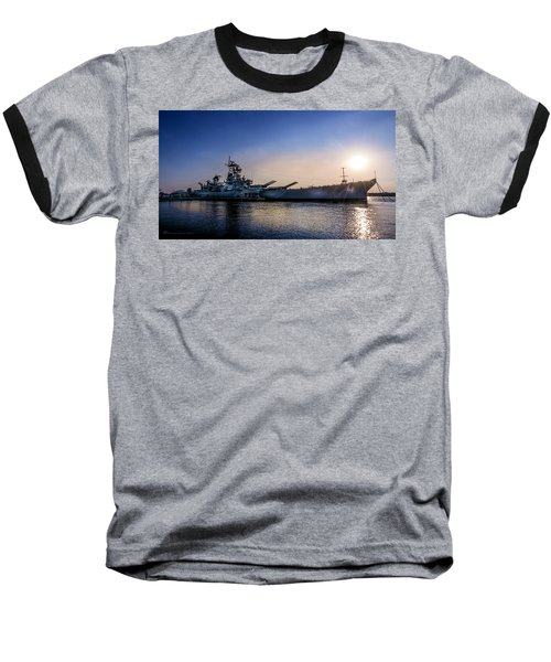 Baseball T-Shirt featuring the photograph Battleship New Jersey by Marvin Spates