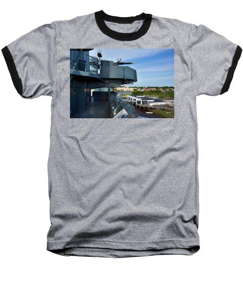 Battleship View Of Wilmington Nc Baseball T-Shirt by Denis Lemay