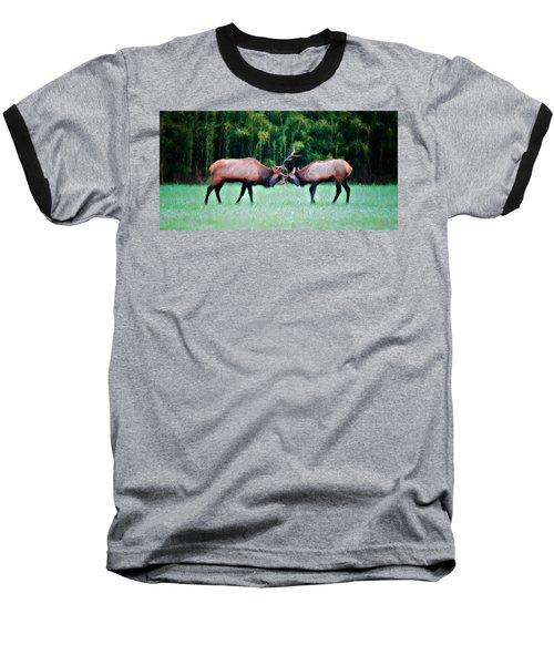 Battling Bulls Baseball T-Shirt by Lana Trussell