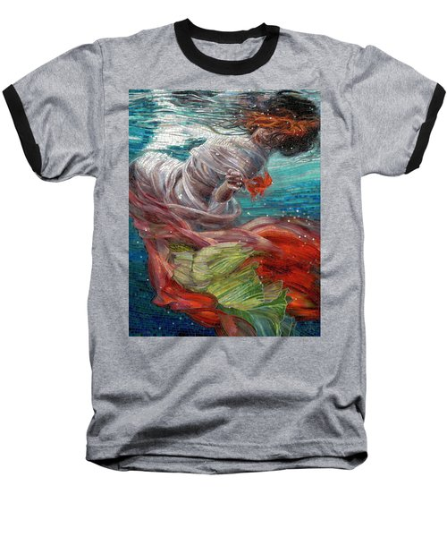 Baseball T-Shirt featuring the painting Batyam by Mia Tavonatti