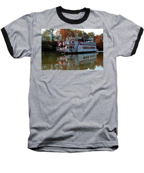 Baseball T-Shirt featuring the photograph Bavarian Belle Riverboat by LeeAnn McLaneGoetz McLaneGoetzStudioLLCcom