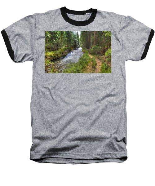 Bavarian Forest Stream Baseball T-Shirt