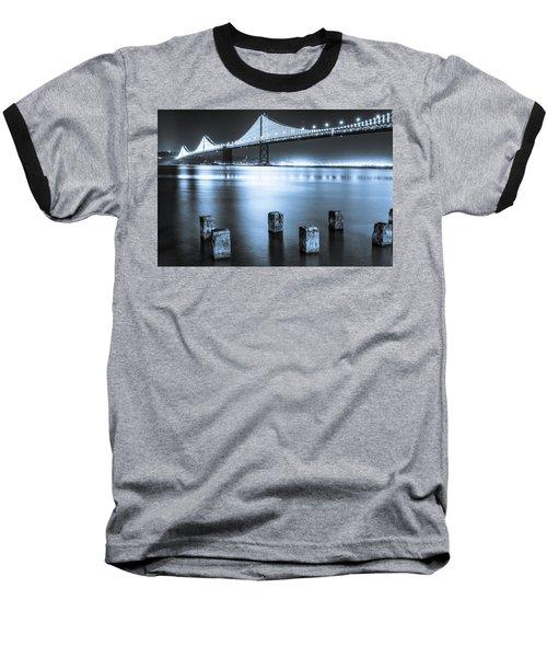 Bay Bridge 1 In Blue Baseball T-Shirt