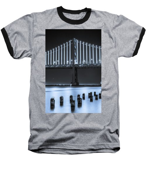Bay Bridge 2 In Blue Baseball T-Shirt