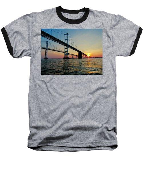 Bay Bridge At Sunset  Baseball T-Shirt