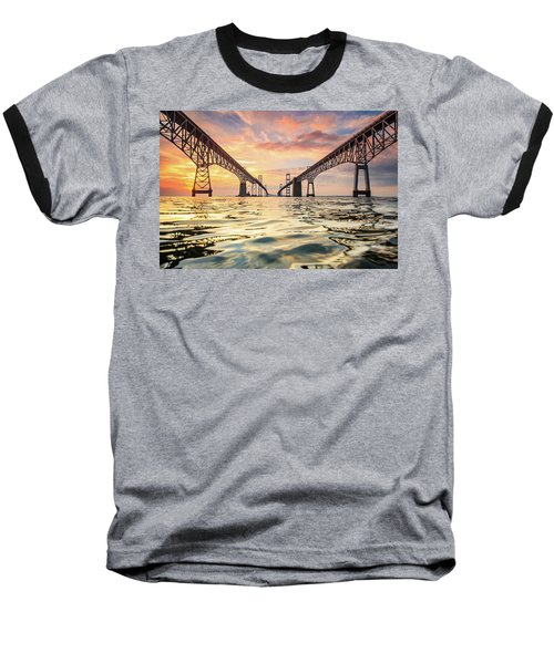 Baseball T-Shirt featuring the photograph Bay Bridge Impression by Jennifer Casey
