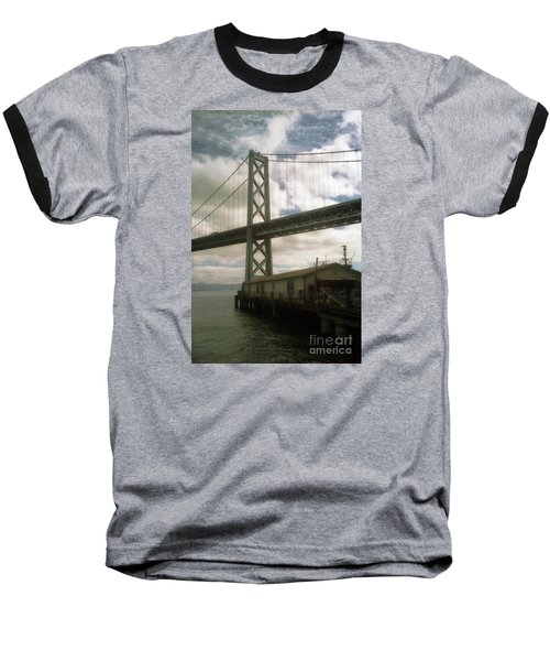 Bay Bridge San Francisco Waterfront Baseball T-Shirt