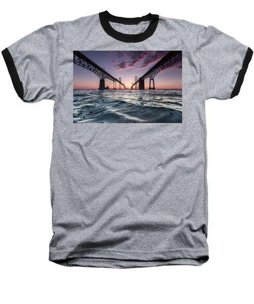 Bay Bridge Twilight Baseball T-Shirt