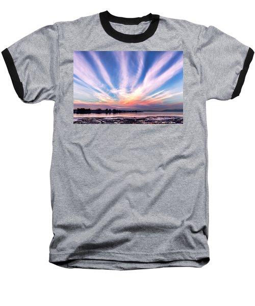 Bay Farm Island Sunrise Baseball T-Shirt