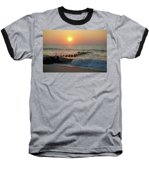 Bay Head Beach Sunrise 1 Baseball T-Shirt