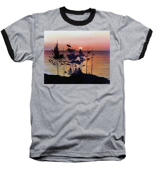 Bay Of Fundy Sunset Baseball T-Shirt