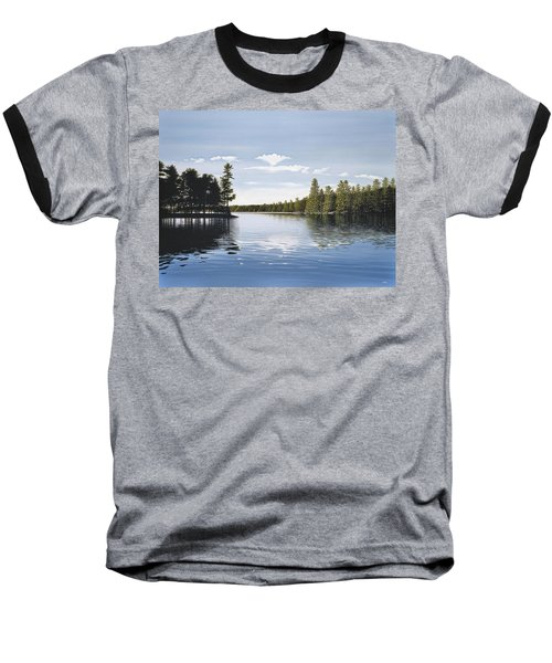 Bay On Lake Muskoka Baseball T-Shirt by Kenneth M  Kirsch