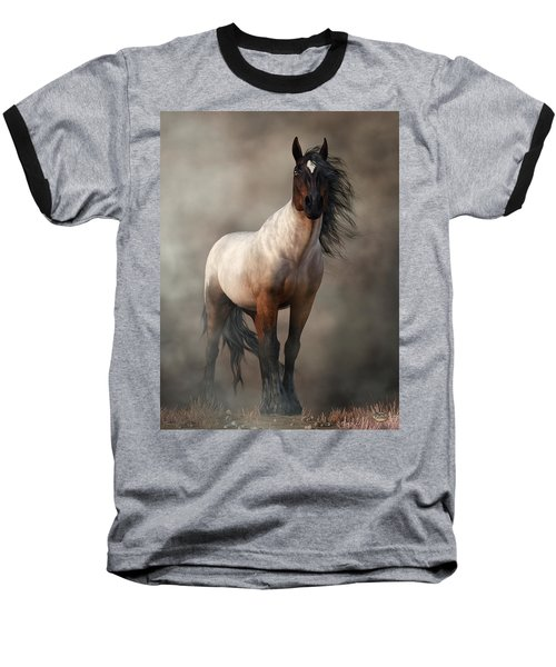 Bay Roan Horse Art Baseball T-Shirt