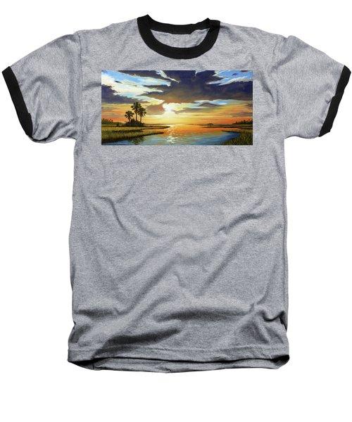 Bay Sunset Baseball T-Shirt