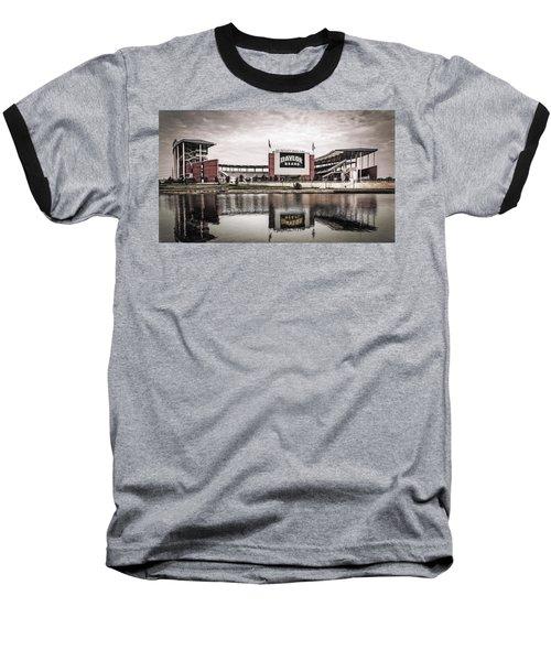 Football Stadium Sketch Baseball T-Shirt