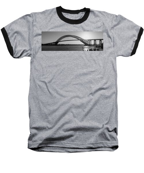 Bayonne Bridge Panorama Bw Baseball T-Shirt