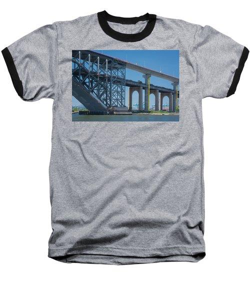 Bayonne Bridge Raising 3 Baseball T-Shirt