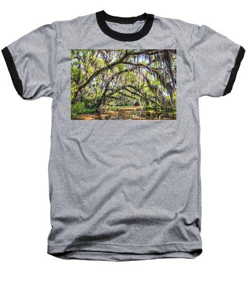 Bayou Cathedral Baseball T-Shirt