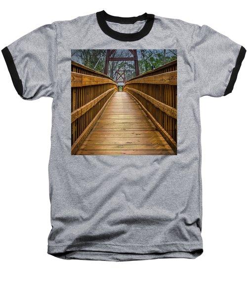 Baseball T-Shirt featuring the photograph Bayou Foot Bridge by James Woody