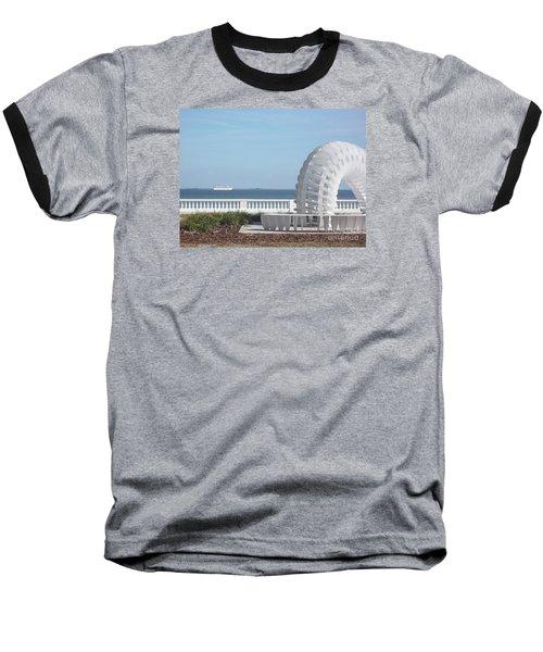 Bayshore Boulevard Sculpture Baseball T-Shirt by Gail Kent