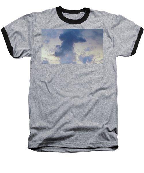 Blue Bunny Cloud  Baseball T-Shirt