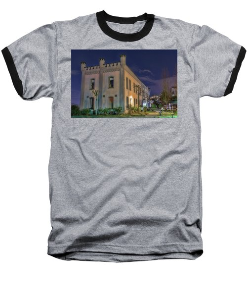 Baseball T-Shirt featuring the mixed media B.c.penitentiary by Jim  Hatch