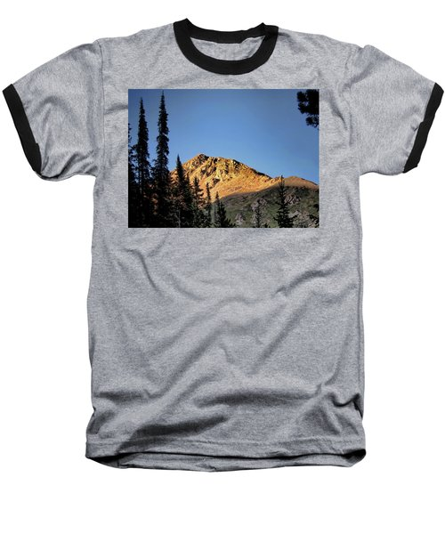 Baseball T-Shirt featuring the photograph Be Still Like A Mountain ... by Jim Hill