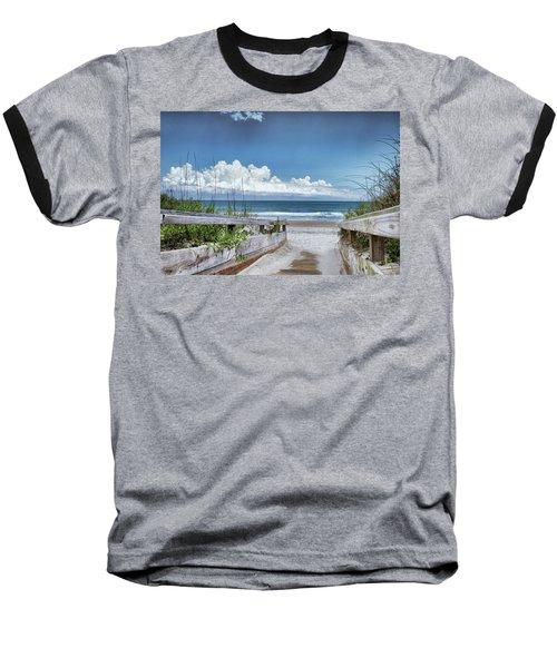 Beach Access Baseball T-Shirt by Phil Mancuso