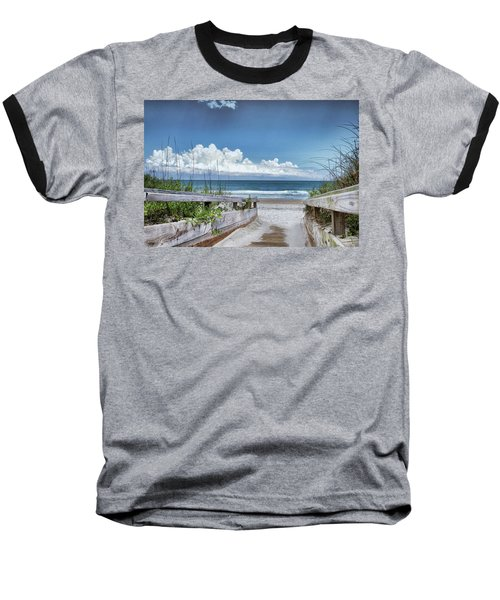 Beach Access Baseball T-Shirt